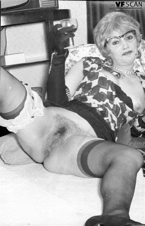 black n white footage with raunchy stocking clad vintage tarts