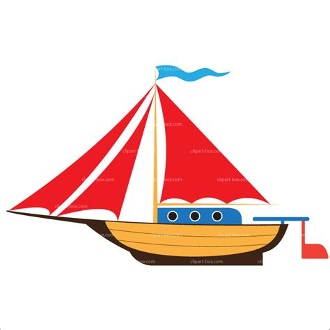 Boat Clipart Pictures by Sailboat On White Background Vector Stock Vector