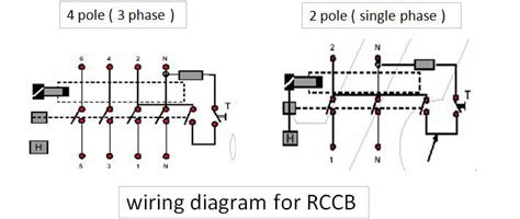 abb rccb wiring diagram residual current circuit breaker electrical engineering centre
