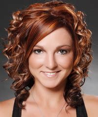 Formal Medium Curly Hairstyle Chestnut Brunette Hair Color