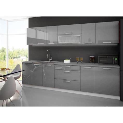 cuisine grise plan de travail blanc cuisine laquee high gris blanc 3m avec plan de travail achat vente cuisine complète cuisine