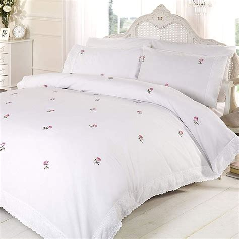King Sized Duvet by Floral White Pink King Size Duvet Cover Set