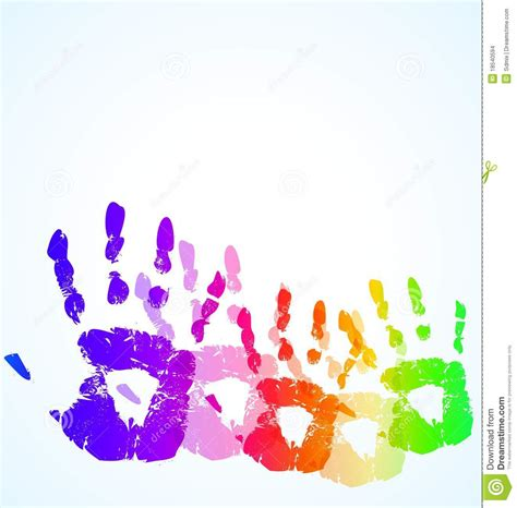The Hand Print Abstract Color Background Stock Vector