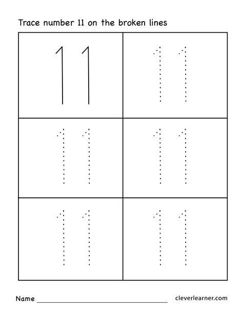 collection  kindergarten number tracing worksheets