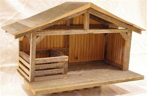 items similar  wooden nativity setting creche   reclaimed wood  etsy