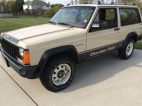 original jeep cherokee 1984 jeep cherokee chief 2 door 2 5 liter 4wd 37 800