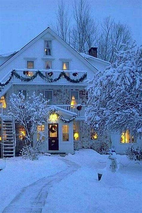 christmas houses in snow cozy winter snow house winter beautiful winter