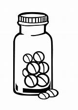 Bottle Medicine Coloring Pill Bottles Sheet Drawing Sketch Template Police sketch template