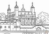 London Coloring Pages Tower Kingdom United Printable Drawing Paper Castles Crafts sketch template