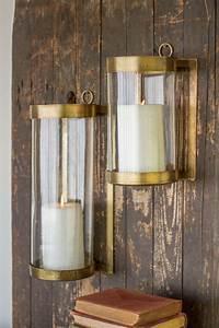 Kalalou Large Or Small Antique Brass Glass Lanterns