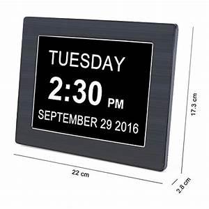 Digitale Wanduhr Groß : iprotect digitale wanduhr 8 display mit extra gro er schrift datumsanzeige ~ Indierocktalk.com Haus und Dekorationen