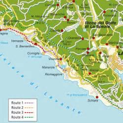 Les Cinq Terres En Italie Carte by Les Cinq Terres Italie Carte