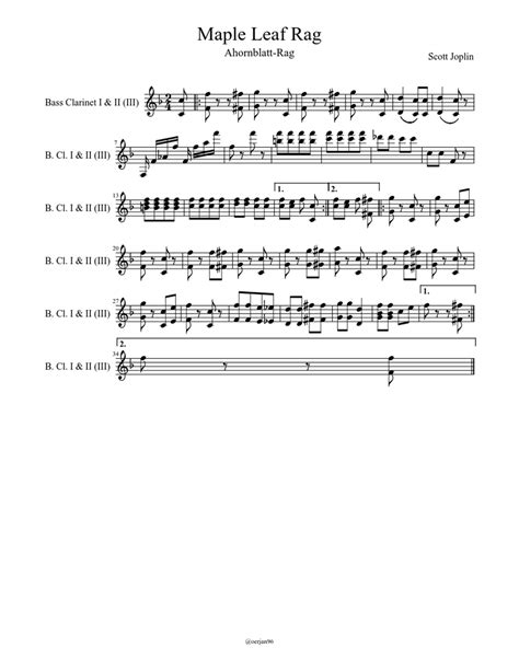 Mutopiaproject.org • free to download, with the freedom to distribute, modify and perform. Maple Leaf Rag Sheet music   Download free in PDF or MIDI ...