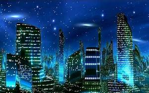 This city is very blue at night | Skylines at Night ...