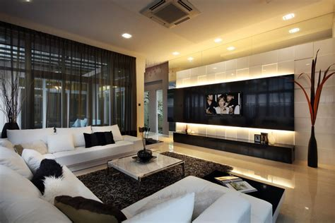 Singapore 65 Inch Tv Living Room Contemporary With Wall