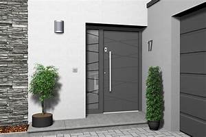 Haustren Modern Grau Haus Deko Ideen