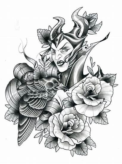 Maleficent Tattoo Desenhos Flash Diablo Disney Feminina