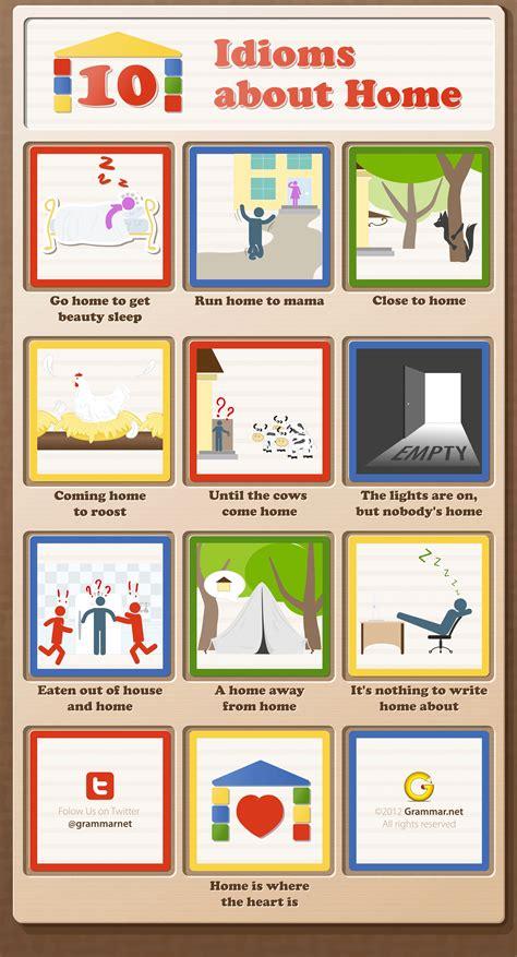 10 Idioms About Home [infographic]  Grammar Newsletter  English Grammar Newsletter