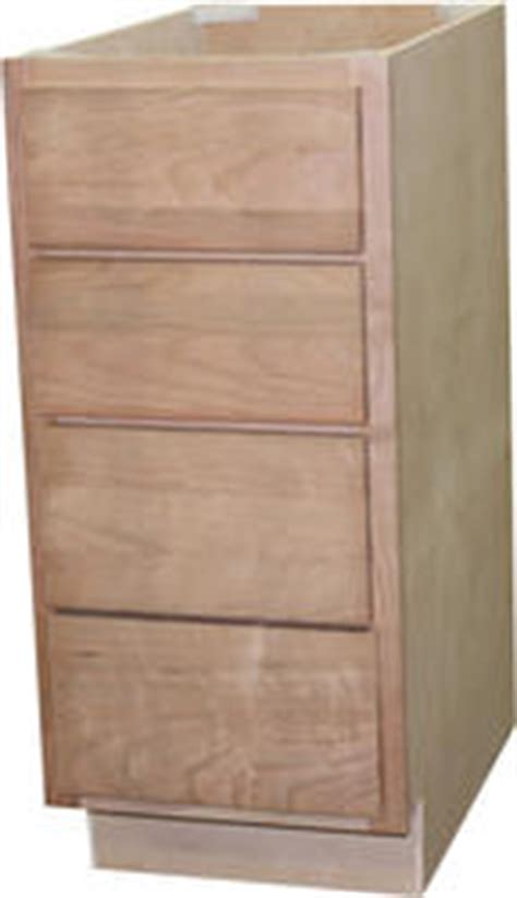 quality one 18 quot x 34 1 2 quot unfinished cherry 4 drawer base