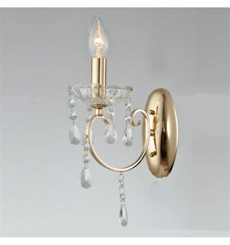 applique cristallo applique cristallo barocco con pendente oro pavia