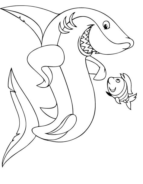 printable shark coloring pages  kids diy