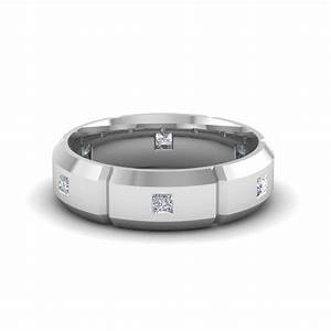 Get 18k white gold mens wedding bands at affordable price for Mens wedding rings 18k white gold