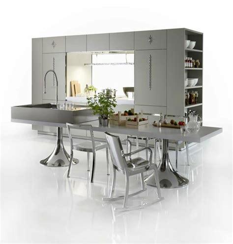 cuisine futuriste cuisine design contemporain signé philippe starck design