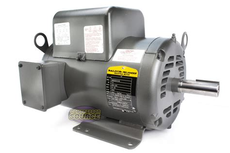 baldor 7 5 hp electric motor 3450 rpm 184 t frame 1 ph single phase 208 230 volt ebay