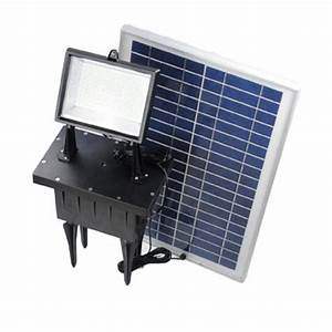 Led outdoor rechargeable solar powered exterior ground