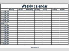 Free Hourly Appointment Calendar Calendar Printable 2018