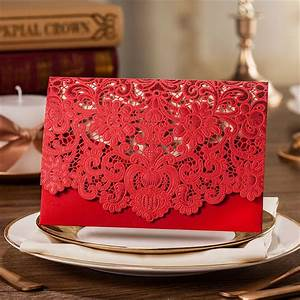 hot sale red laser cut invitations anniversary invitation With laser cut wedding invitations for sale