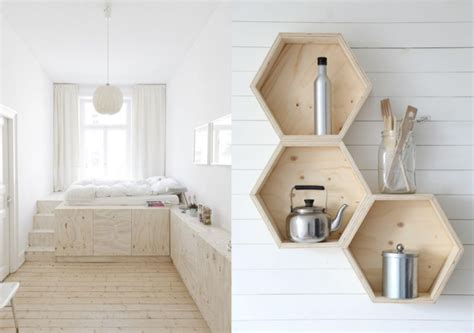horloge de cuisine originale la déco en contreplaqué une idée originale et minimaliste