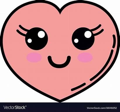 Heart Kawaii Happy Face Clipart Clipground