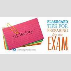 Flashcard Tips For Preparing For An Exam  Dual Credit At Home