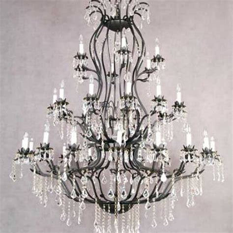 foyer chandelier iron wrought chandeliers lighting entryway crystal h60 w52 a83