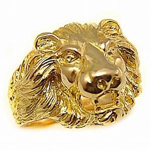 Chevaliere Homme Or 24 Carats : bague chevali re t te de lion or 18k ~ Melissatoandfro.com Idées de Décoration