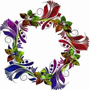 Clipart - Colorful Floral Wreath