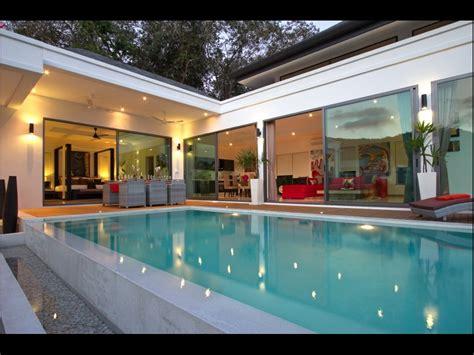 chambre piscine villa luxueuse contemporaine villa 3 chambres