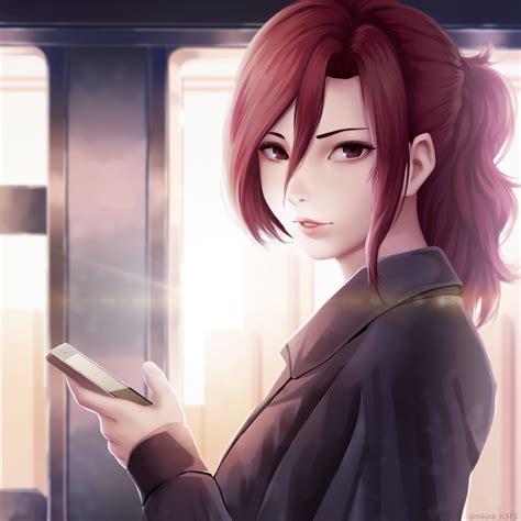 4527235 Anime Redhead Red Eyes Anime Girls Long