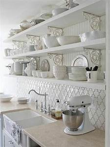 Küchenregal Landhausstil Weiß : moderne k chengestaltung wei hochglanz regale ~ A.2002-acura-tl-radio.info Haus und Dekorationen