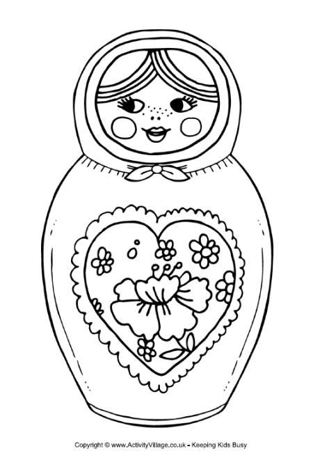 doll coloring pages getcoloringpagescom