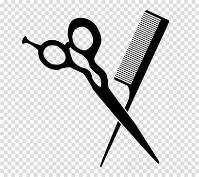 Scissors Comb Clipart Transparent Shear Line Clipground