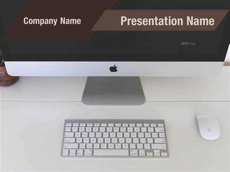 apple monitor powerpoint template backgrounds apple