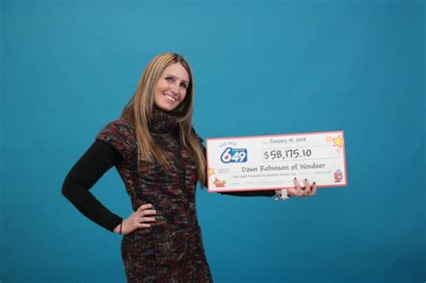Windsor Woman Wins k In Lotto 6/49