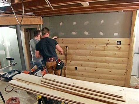 install beadboard paneling log cabin interior rustic basement log homes