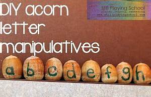 diy acorn letter manipulatives diy and crafts schools With letter manipulatives