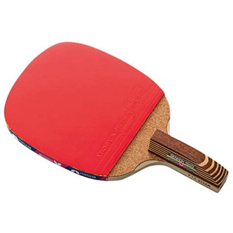 stock butterfly senkoh  penhold table tennis racket  rubber  brown handle
