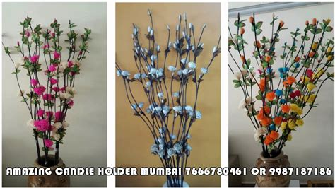 Dry Flowers Decoration For Home: DRY WILLOW CURLY STICKS WITH DRY FLOWER FOR DECORATION BY