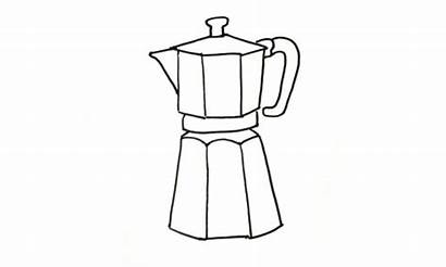 Coffee Maker Draw Drawing Pot Drawings Paintingvalley
