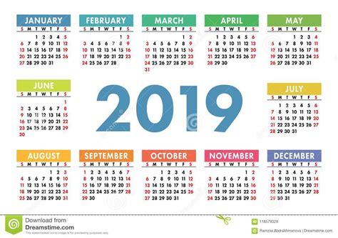 calendario colorido estilos calendario